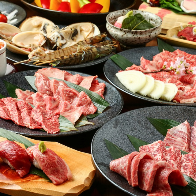 Please enjoy Japan's top three brands of wagyu beef exclusively chosen by the owner.