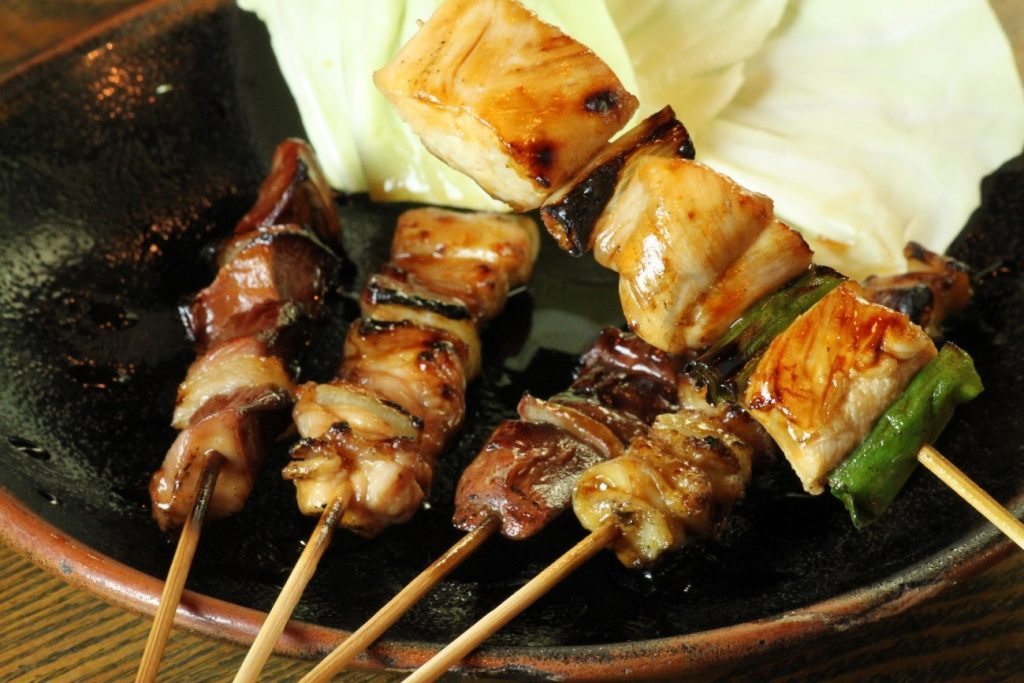 Don't miss out! Their signature chicken & Japanese green onion skewers!